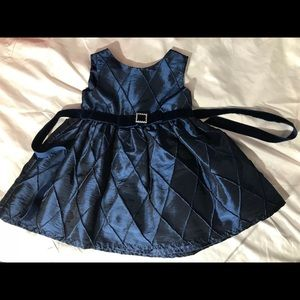 Sweet Heart Rose toddlers blue shiny dress up 18M